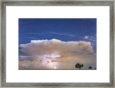 Springtime Thunderstorm On The Colorado Plains Framed Print by James BO  Insogna