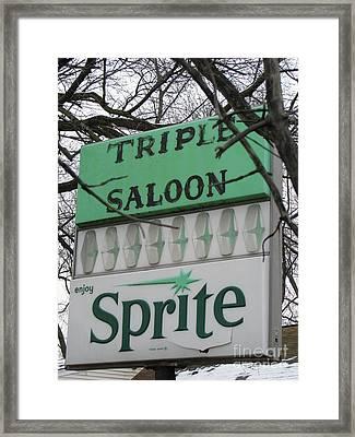 Sprite Framed Print by Michael Krek