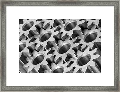 Sprockets Framed Print by Jim Hughes