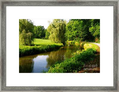 Spruce Creek Great Fishing In Pa 6 Framed Print by Heinz G Mielke