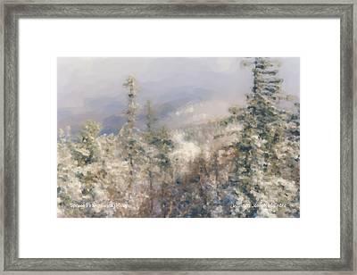 Spruce Peak Summit At Sunday River Framed Print by Bill McEntee