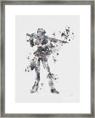 Squall Leonhart Framed Print by Rebecca Jenkins