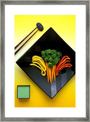 Square Plate Framed Print by Garry Gay