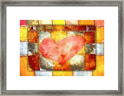 Squared Heart Framed Print by Carol Leigh