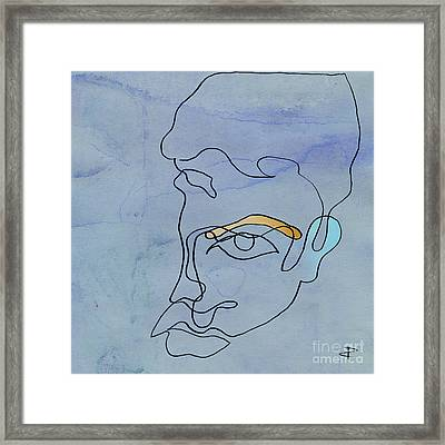 Squgiglehead With Ochre Eyebrow And Cold Ear Framed Print by Paul Davenport