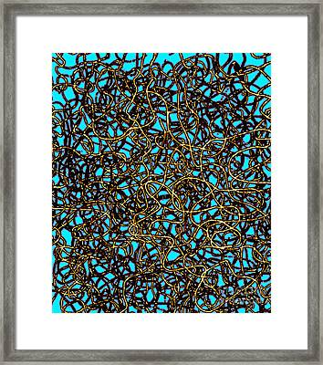 Squiggle 6 Framed Print by Andy  Mercer