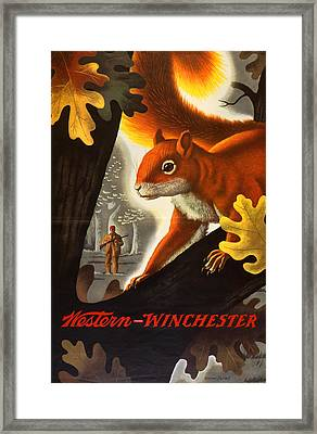 Squirrel Hunting Framed Print by Weimer Pursell