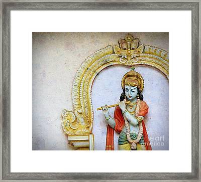 Sri Krishna Framed Print by Tim Gainey