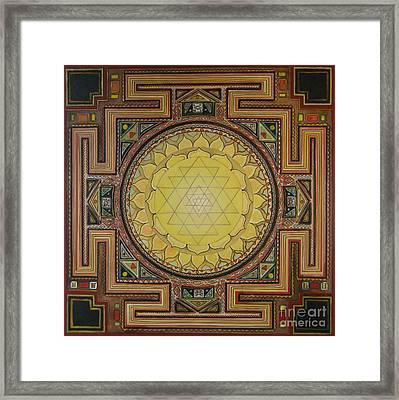 Sri Yantra Framed Print by Karl Seitinger