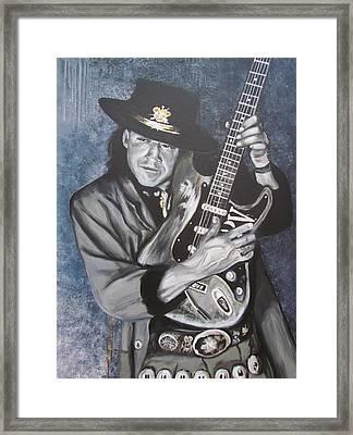 Srv - Stevie Ray Vaughan  Framed Print by Eric Dee