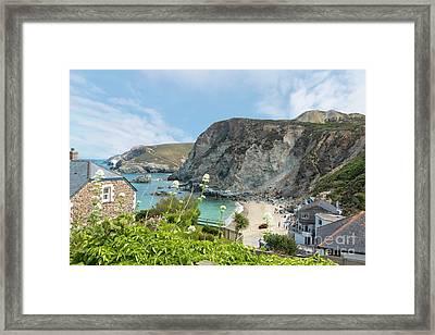 St Agnes Beach Framed Print by Terri Waters