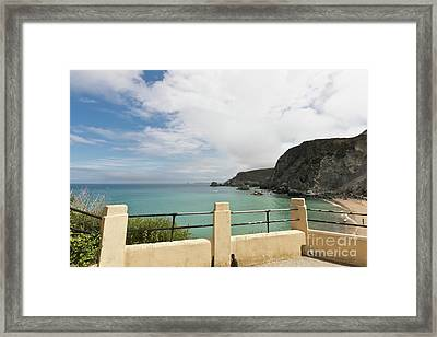 St Agnes To Holywell Framed Print by Terri Waters
