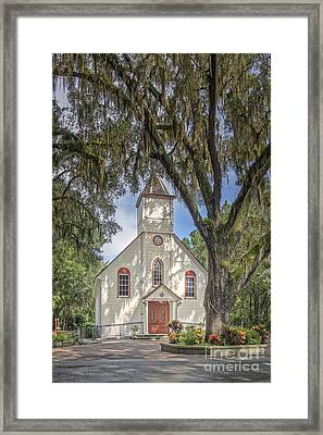 St. Ambrose Catholic Church  Framed Print by Maria  Struss
