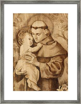 St. Anthony Framed Print by Conrad  Pinto