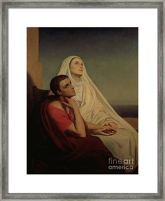 St Augustine And His Mother St Monica Framed Print by Ary Scheffer