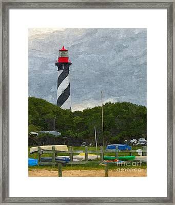 St. Augustine Lighthouse Boat Ramp Framed Print by Jennifer Capo
