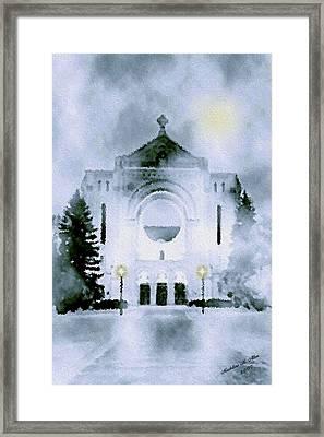 St. Boniface Cathedral Framed Print by Madeline  Allen - SmudgeArt