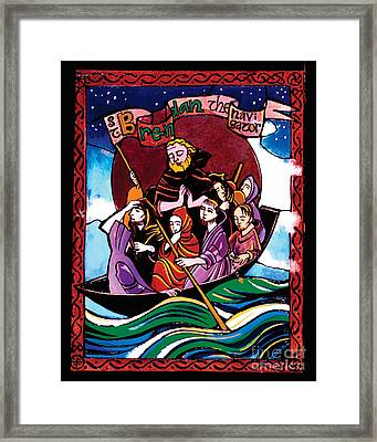 St. Brendan The Navigator - Mmbre Framed Print by Br Mickey McGrath OSFS