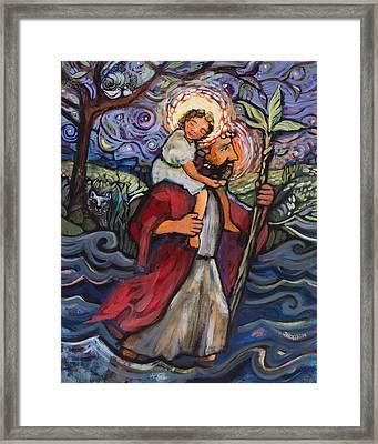 St. Christopher Framed Print by Jen Norton