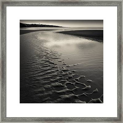 St Cyrus Sand Ripples Framed Print by Dave Bowman