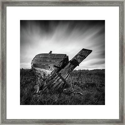 St Cyrus Wreck Framed Print by Dave Bowman