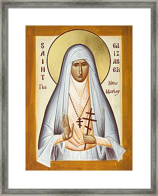 St Elizabeth The New Martyr Framed Print by Julia Bridget Hayes