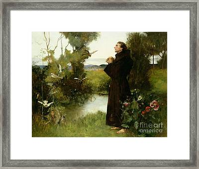 St. Francis Framed Print by Albert Chevallier Tayler