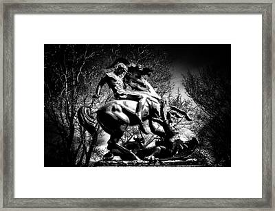 St. George And The Dragon Framed Print by Bill Cannon