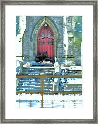 St George's Parishioner Revisited Framed Print by Reb Frost