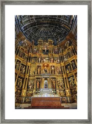 St Jerome Monastery Interior Framed Print by Joan Carroll