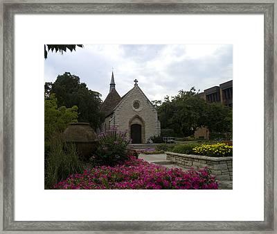 St Joan Of Arc Chapel Framed Print by Peter Skiba