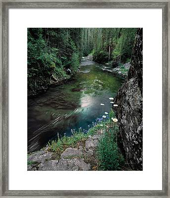 St Joe River Framed Print by Leland D Howard