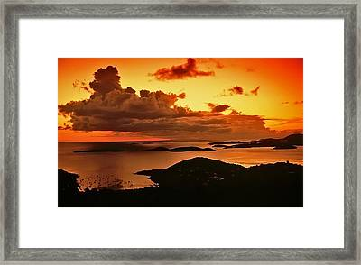 St. John Sunset Framed Print by Bill Jonscher