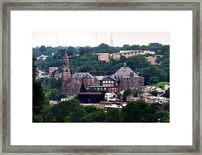 St John The Baptist Church Manayunk Philadelphia Framed Print by Bill Cannon