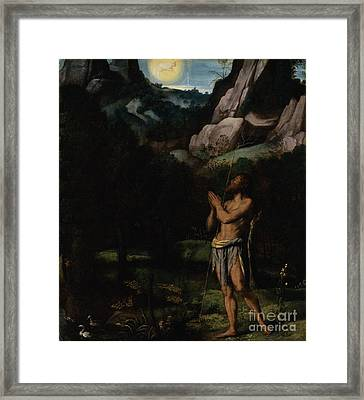 St. John The Baptist In The Wilderness Framed Print by MotionAge Designs