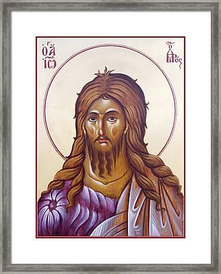 St John The Forerunner And Baptist Framed Print by Julia Bridget Hayes