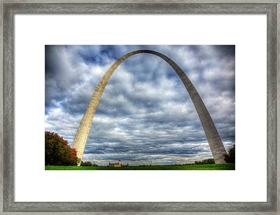 St. Louis Arch Framed Print by Shawn Everhart