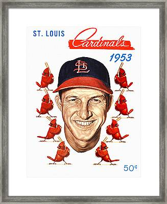 St. Louis Cardinals 1953 Yearbook Framed Print by Big 88 Artworks