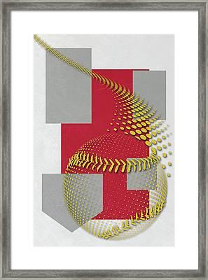 St Louis Cardinals Art Framed Print by Joe Hamilton