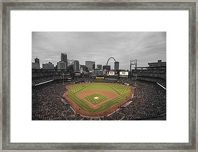 St. Louis Cardinals Busch Stadium Creative 17 Framed Print by David Haskett