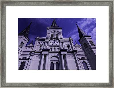 St. Louis Cathedral New Orleans Framed Print by Garry Gay