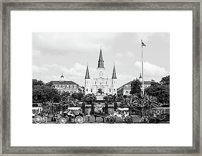 St. Louis Cathedral New Orleans  Framed Print by Scott Pellegrin