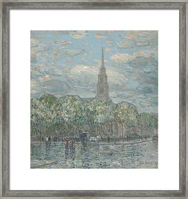 St Marks In The Bowery Framed Print by Childe Hassam