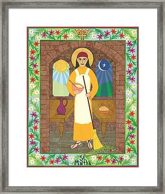 St. Martha Icon Framed Print by David Raber