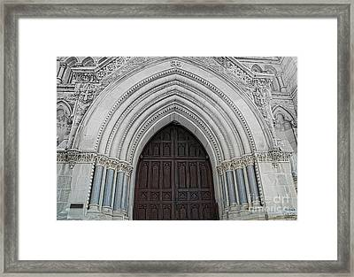 St. Mary Cathedral- Austin Texas Framed Print by Luther Fine Art