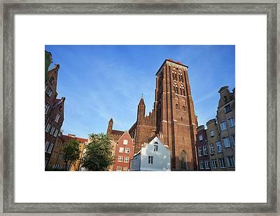St. Mary Church In Gdansk Framed Print by Artur Bogacki