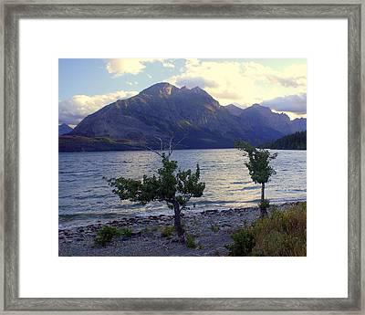 St. Mary Lake Framed Print by Marty Koch