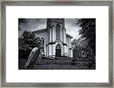 St Mary Of The Snow Framed Print by Joan Carroll