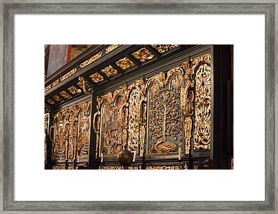 St. Mary's Basilica Religious Reliefs In Krakow Framed Print by Artur Bogacki