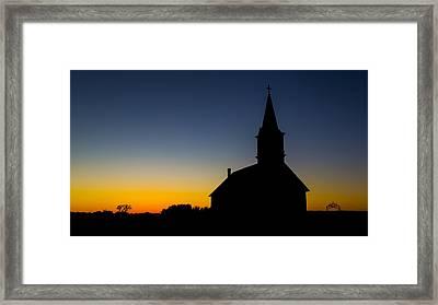 St Olaf Silhouette  Framed Print by Stephen Stookey